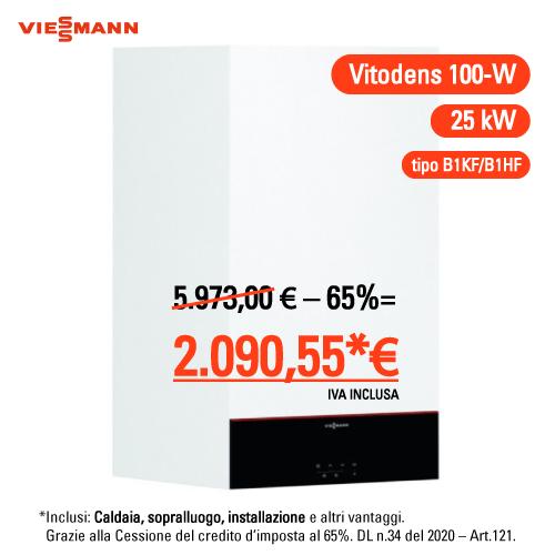 Viessmann Vitodens 100-w 25 kw compreso montaggio