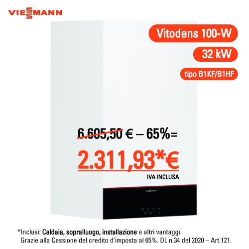 Viessmann Vitodens 100-w 32 kw compreso montaggio