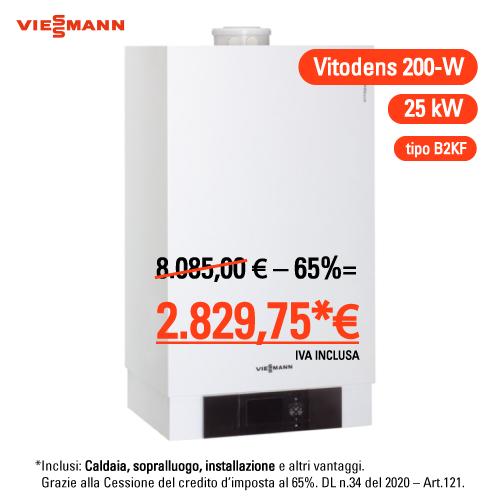 Viessmann Vitodens 200-w 25 kw compreso montaggio