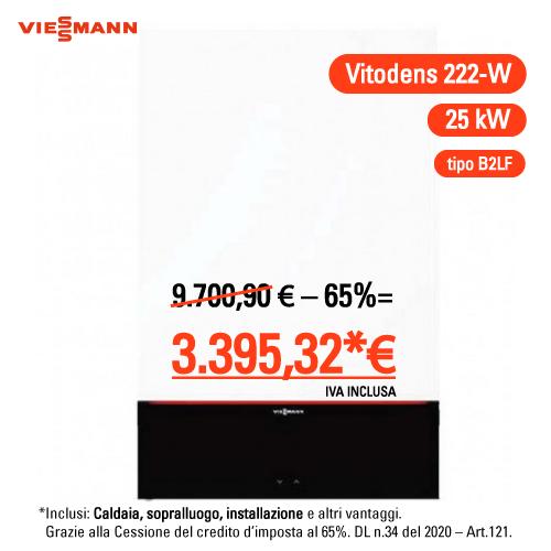 Viessmann Vitodens 222-w 25 kw compreso montaggio